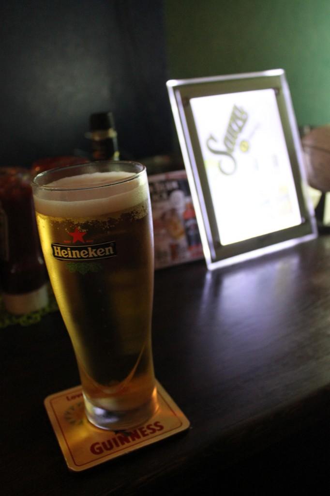 バイク一人旅の後のビール