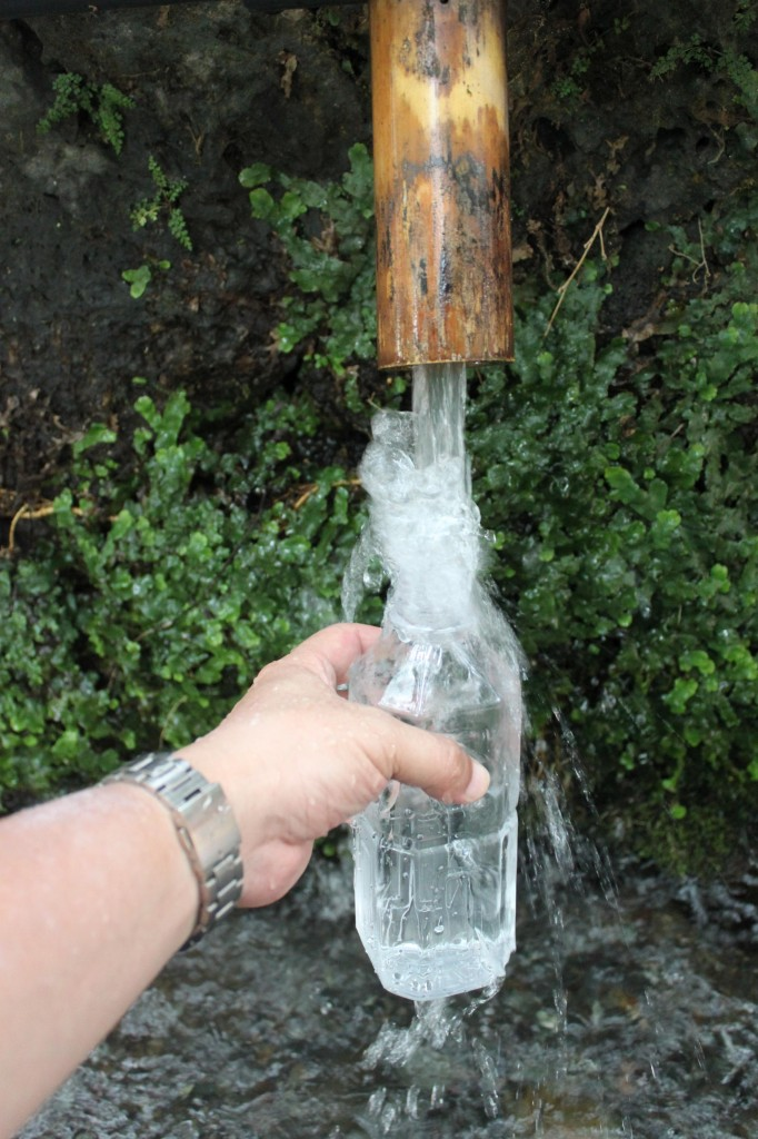 富士の銘水をペットボトルでお持ち帰り