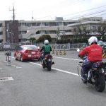 オートバイ教習風景