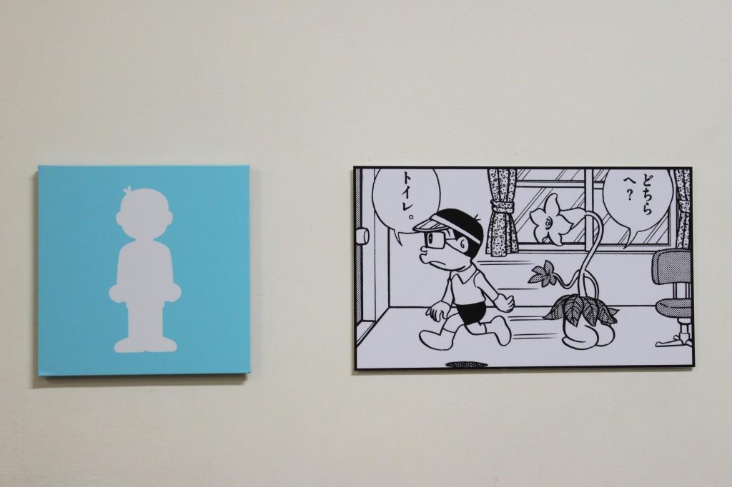 「藤子・F・不二雄展」のトイレのピクトグラム