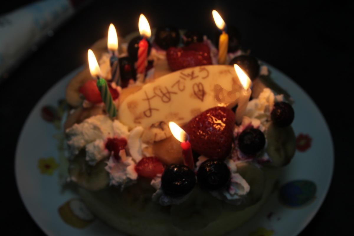 ルタオの手作りバースデーケーキ