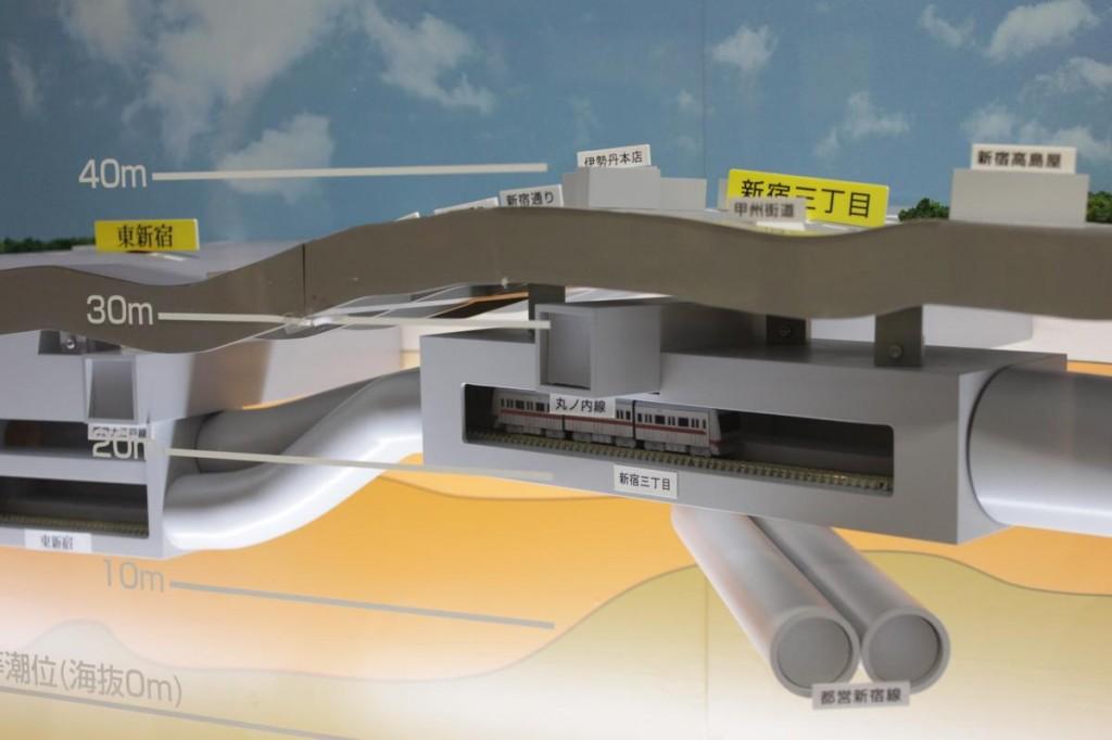 地下鉄博物館の地下模型