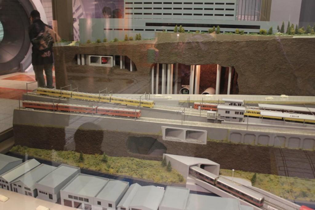 地下鉄博物館の駅模型