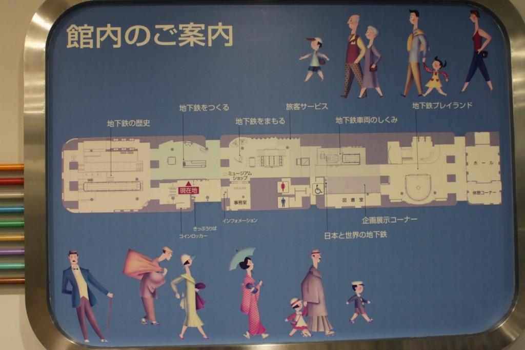 地下鉄博物館の館内マップ