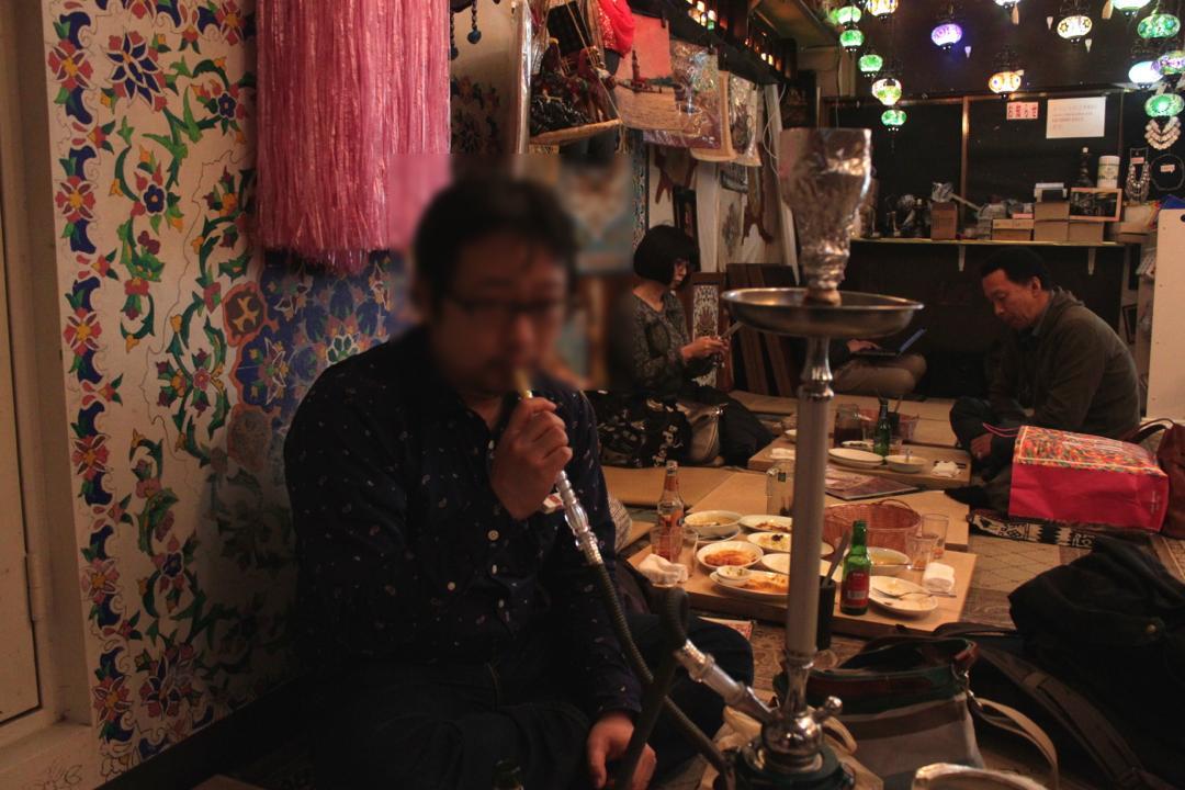 谷中銀座のトルコ料理店「ザクロ」水たばこ