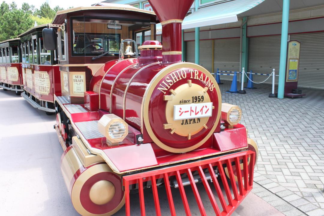 横浜八景島シーパラダイスの園内周遊電車シートレイン