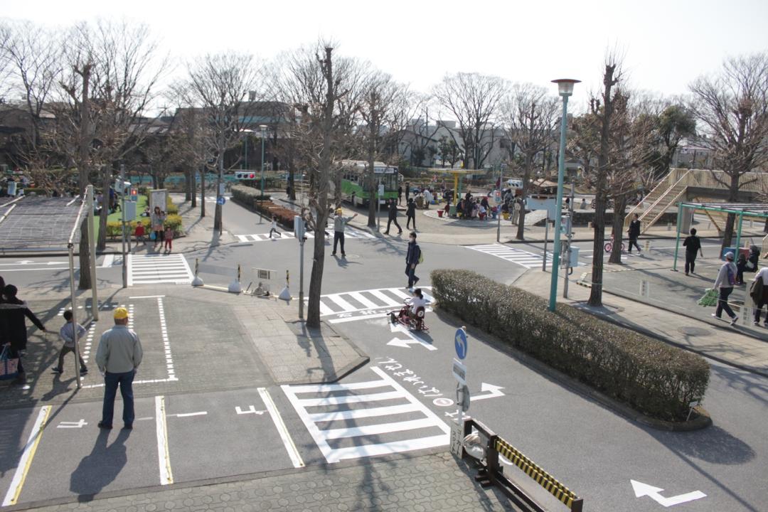 新宿交通公園の俯瞰写真