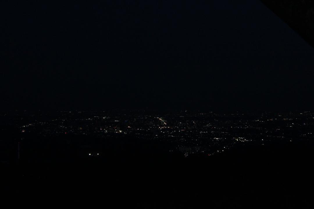 高尾山から見る夜景