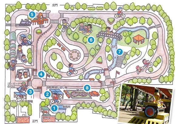 大泉公園で小学生の自転車練習