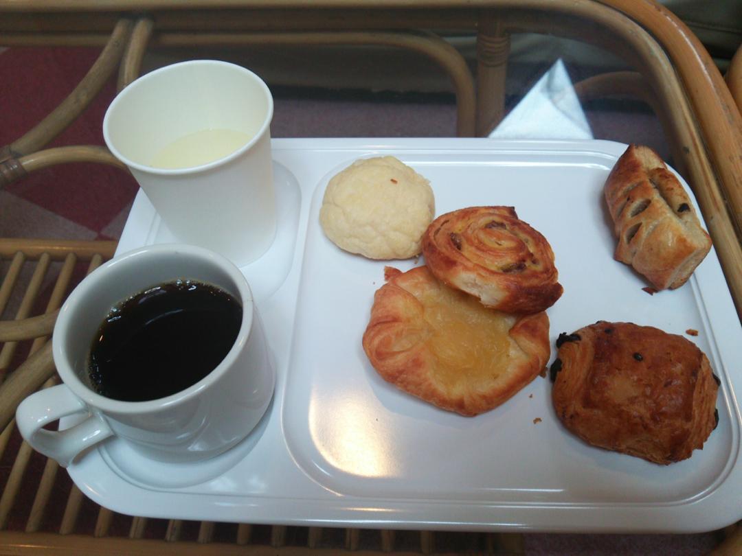 B&Bパンシオンの朝ご飯セット