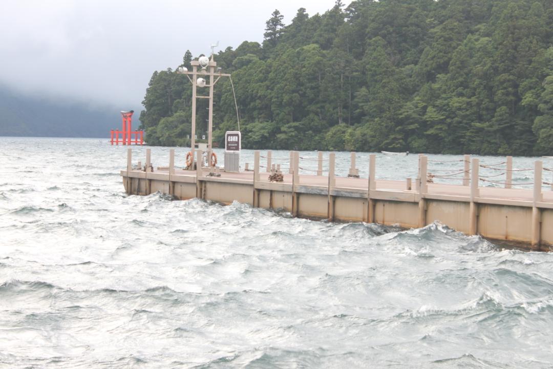芦ノ湖の遊覧船乗り場