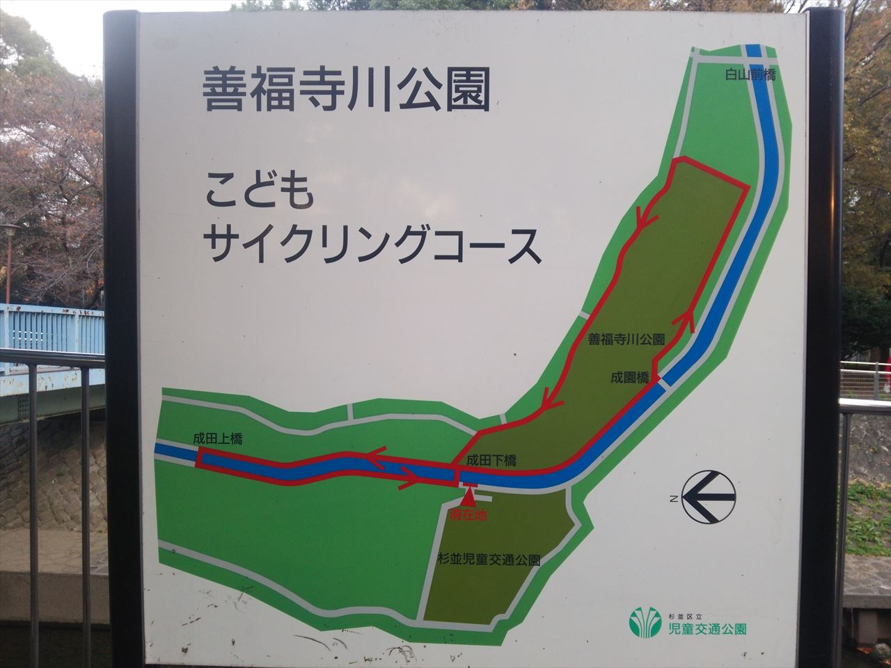 善福寺川公園サイクリングコース