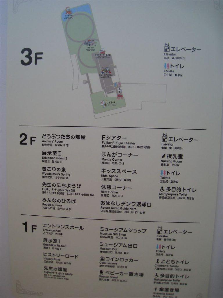 藤子・F・不二雄ミュージアム館内マップ