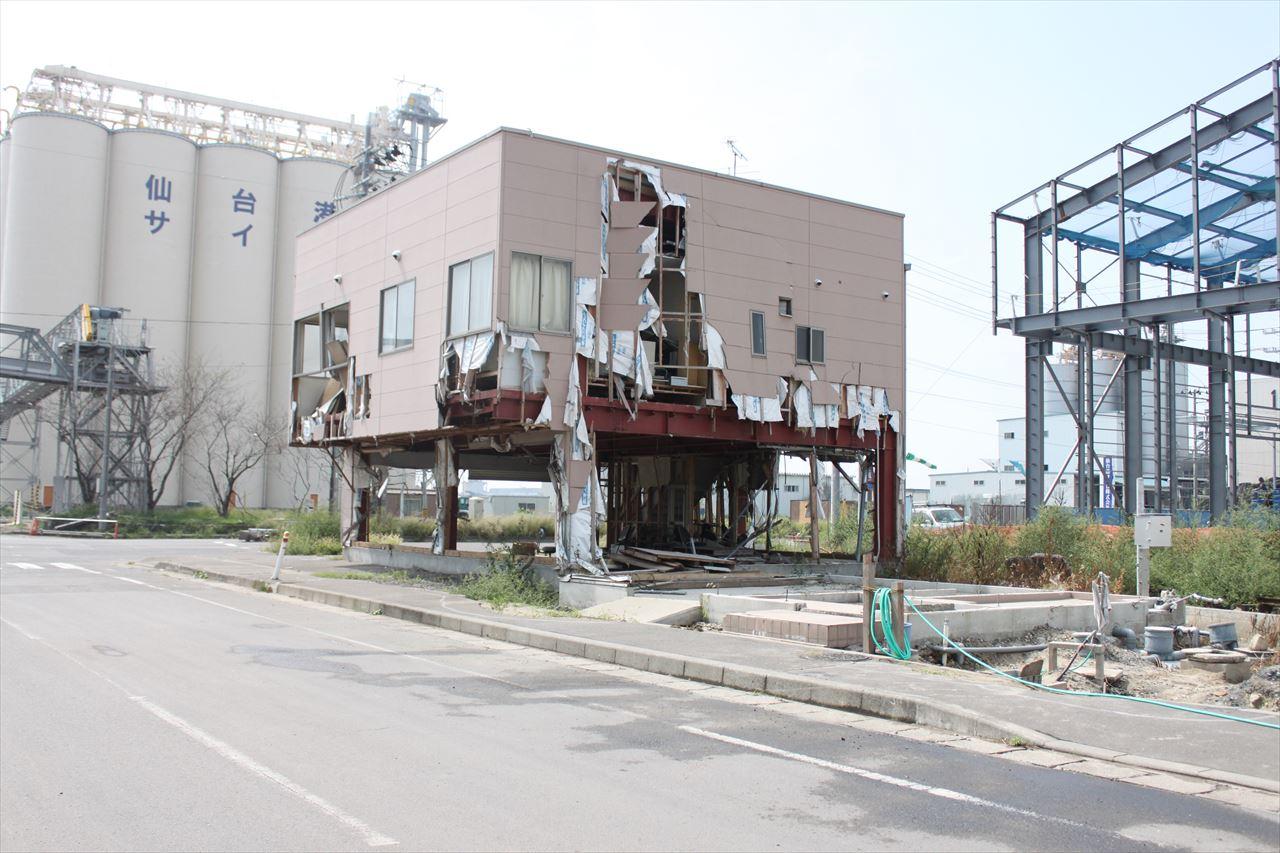 東日本大震災で被害を受けた建物