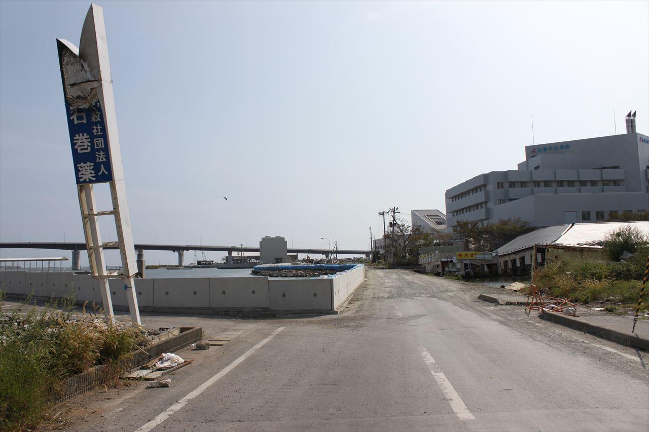 東日本大震災で被害を受けた石巻市立病院