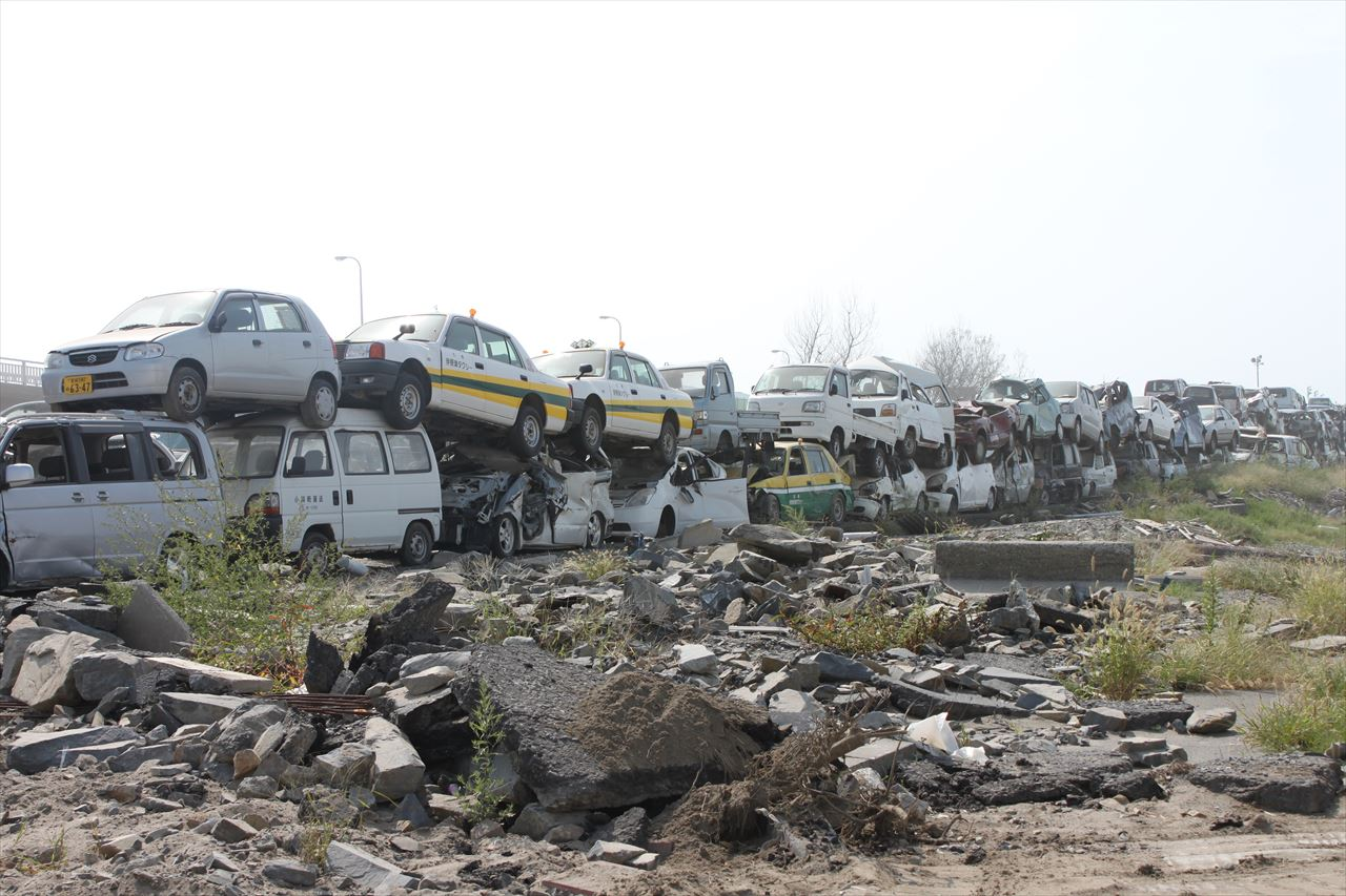 東日本大震災で被害を受けた石巻市