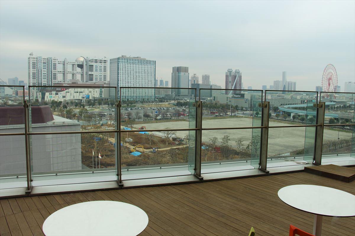 日本科学未来館の最上階からの眺め