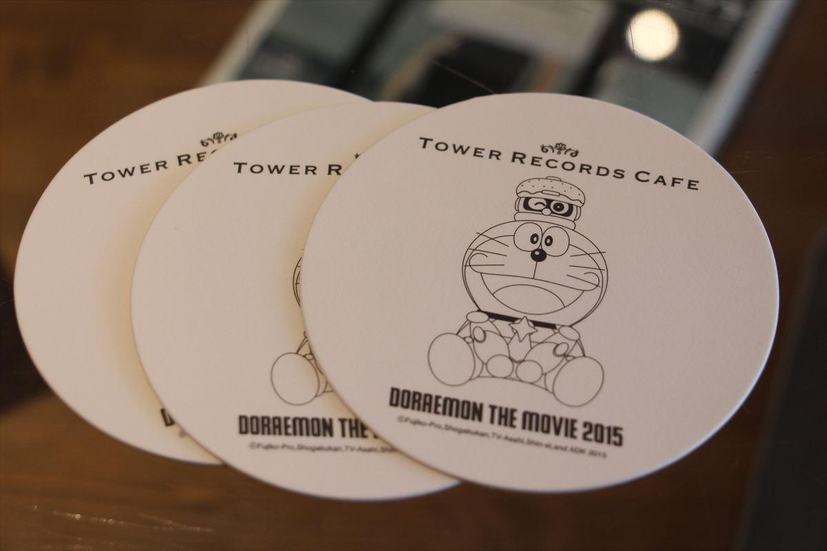 タワーレコードのドラえもんカフェ限定コースター