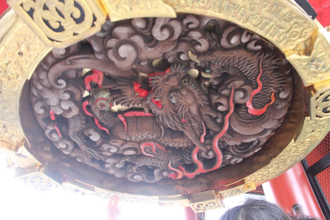 東京下町の浅草寺の雷門