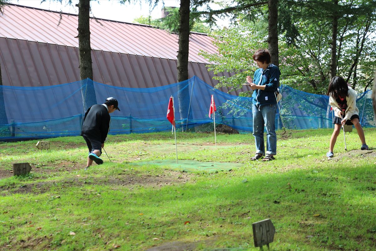 福島県の磐梯南ヶ丘牧場のパターゴルフ場