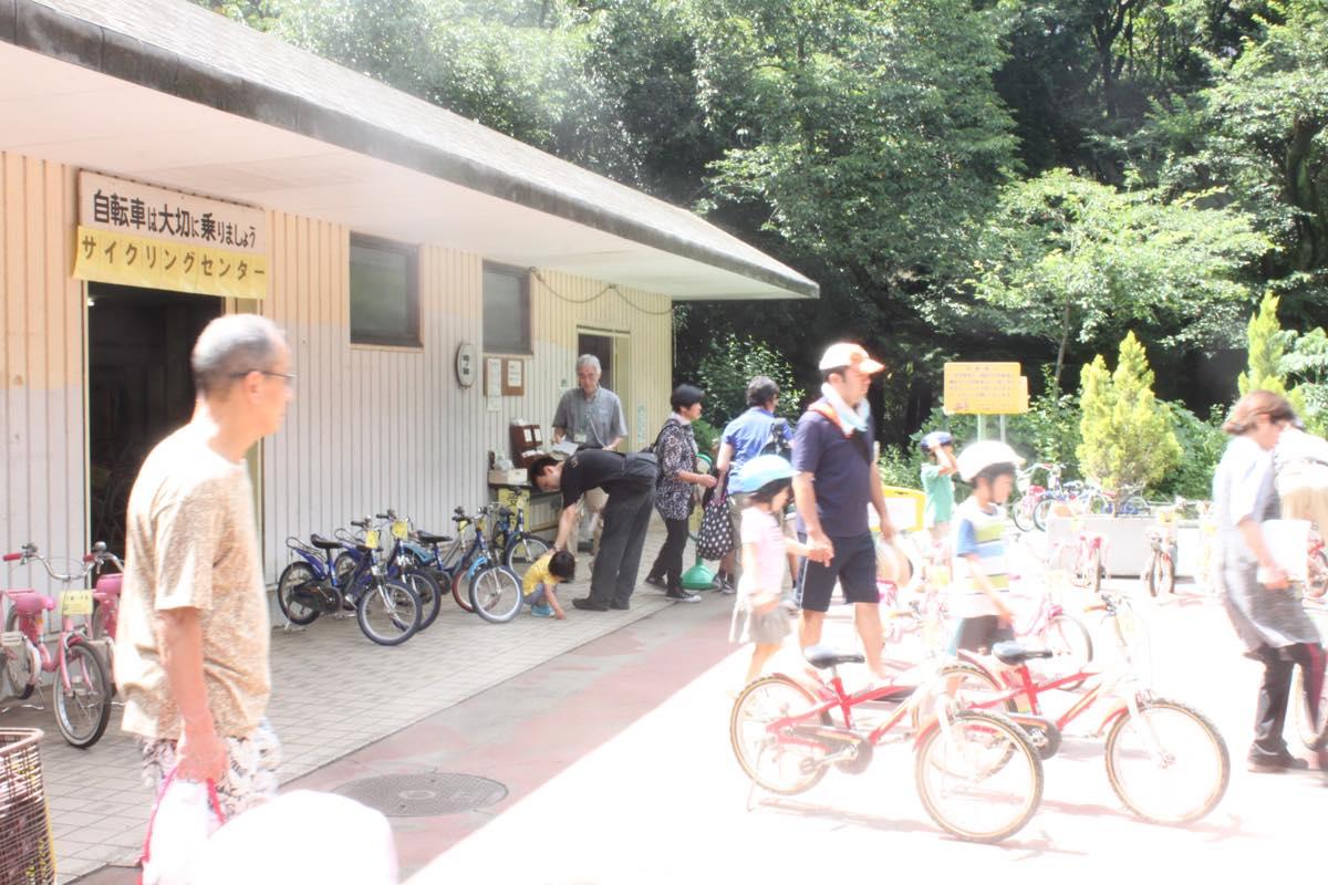 レンタルサイクルで遊べる代々木公園の駐輪場