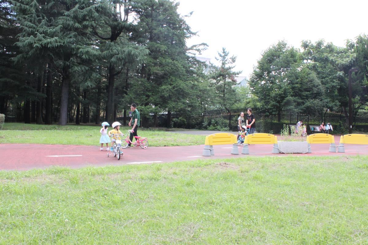 レンタルサイクルで遊べる代々木公園の子供用コース