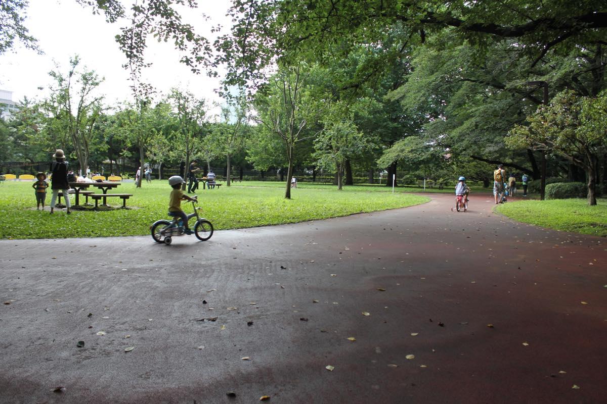 レンタルサイクルで遊べる代々木公園の幼児用コース