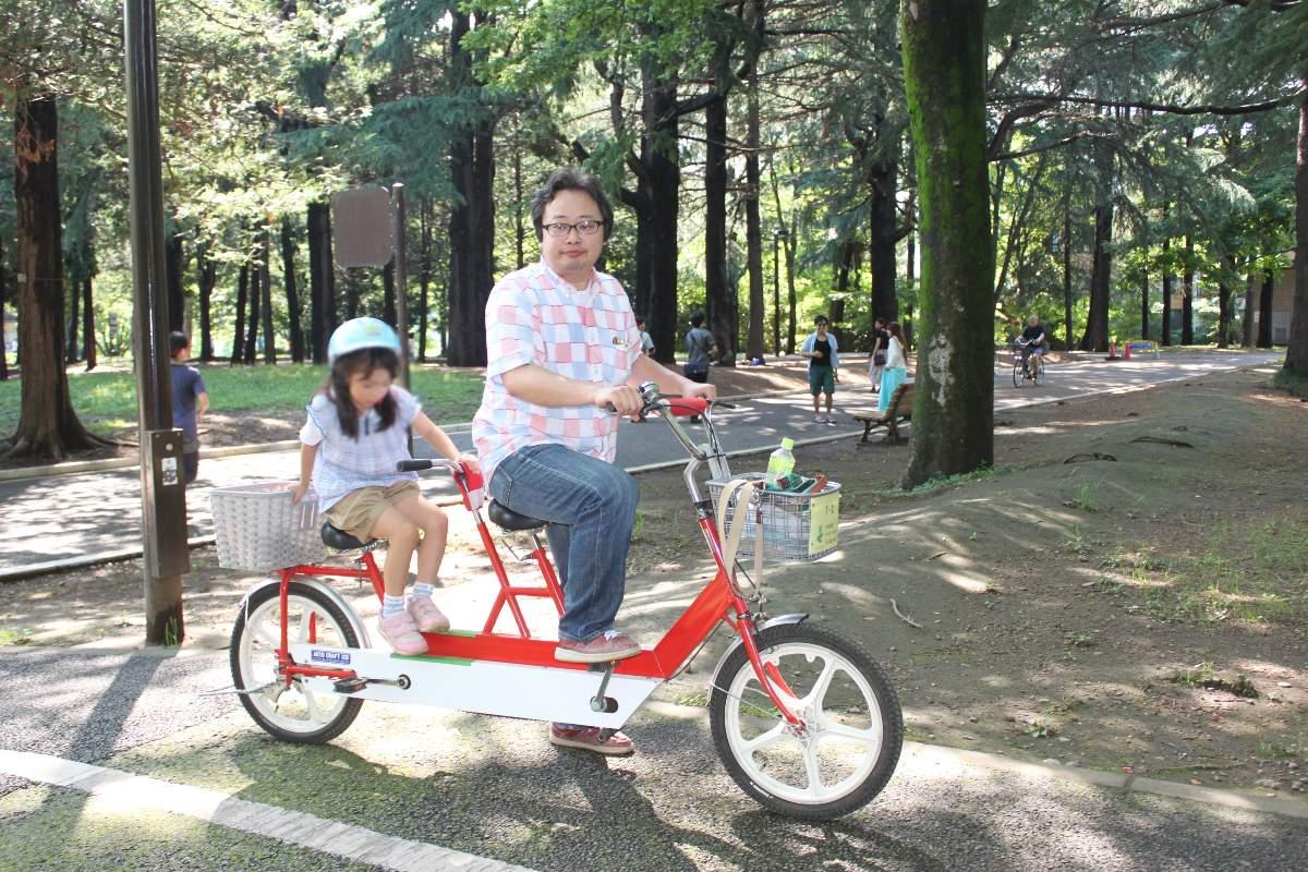 レンタルサイクルで遊べる代々木公園の二人乗り自転車