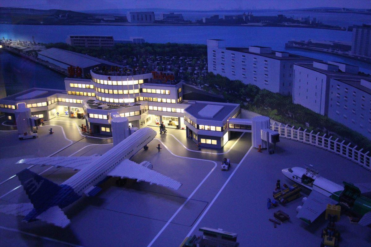 お台場レゴランドのリアルなレゴジオラマ羽田空港