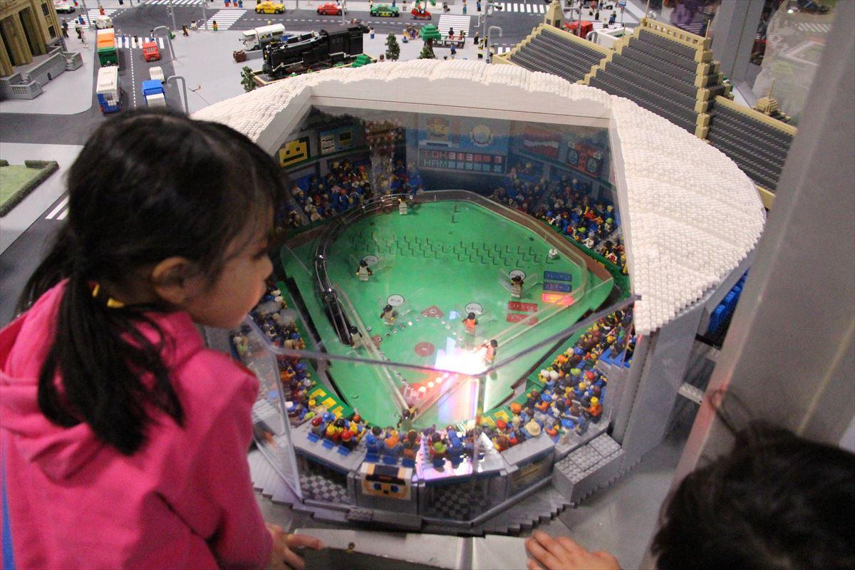 お台場レゴランドのリアルなレゴジオラマ東京ドーム