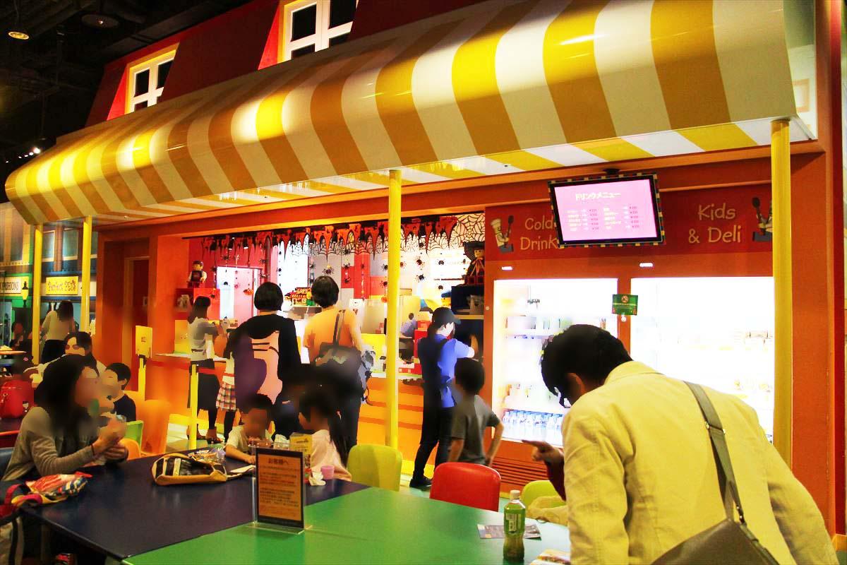 お台場レゴランドの飲食店カフェテリア