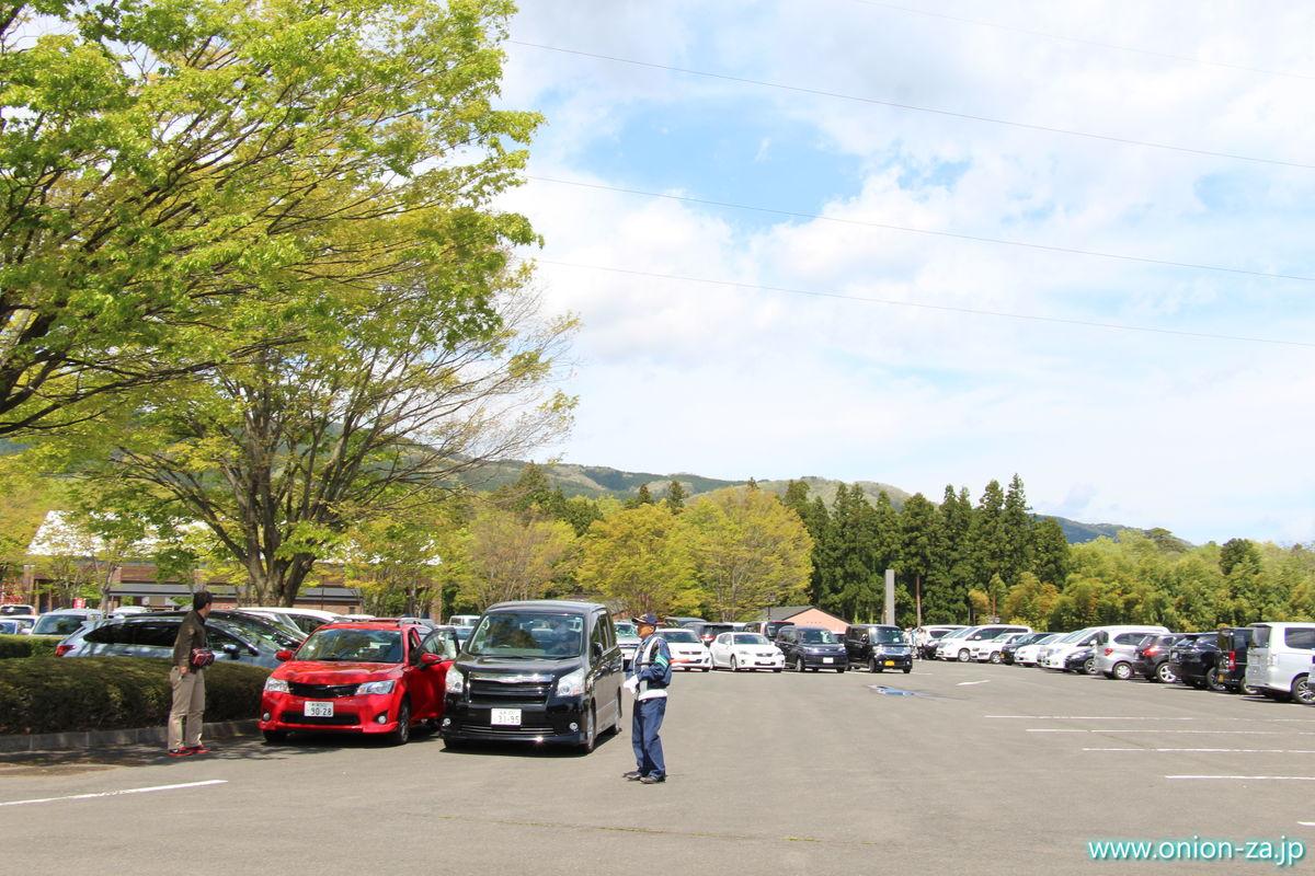 福島県「四季の里公園」の駐車場