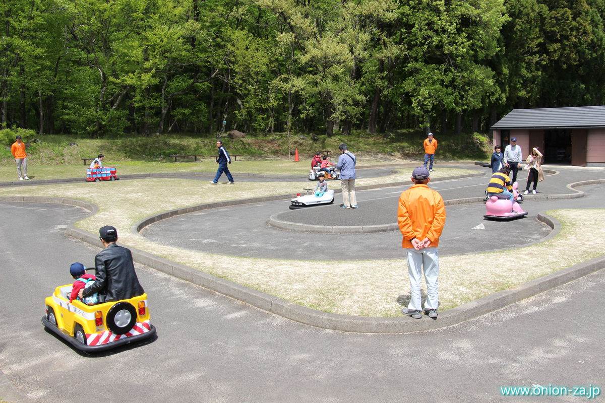 福島県「四季の里公園」の電動カート乗り場