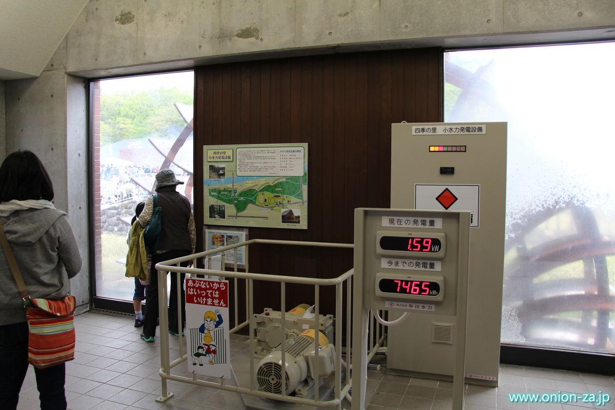 福島県「四季の里公園」の水車小屋は水力発電所だった