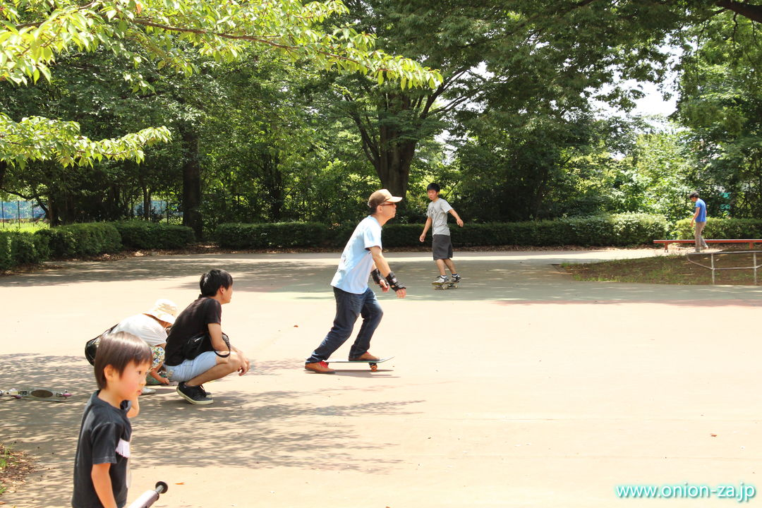 東京都立小金井公園のローラースケート練習所