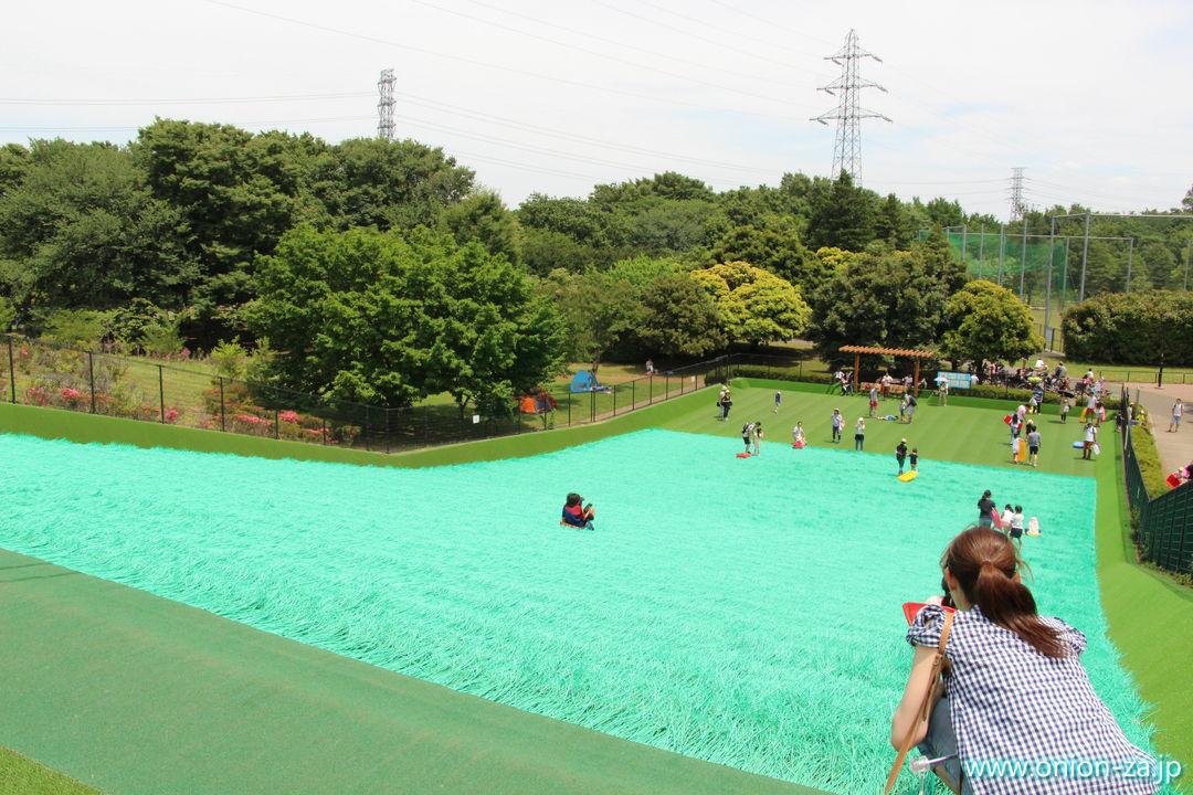 小金井公園ソリゲレンデは大きい