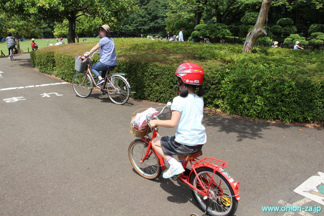 小金井公園サイクリングセンターでツーリング