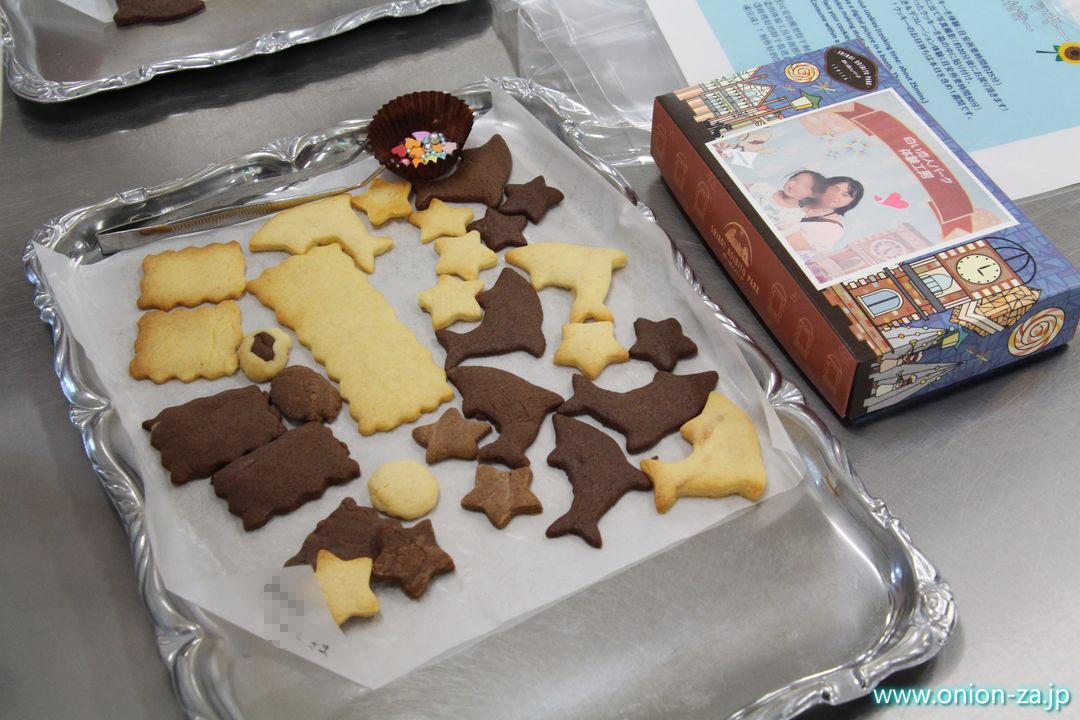 白い恋人パークのお菓子作り体験工房でスイーツ作り