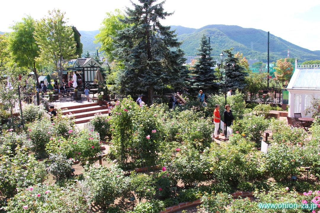 北海道の白い恋人パークにある西洋庭園