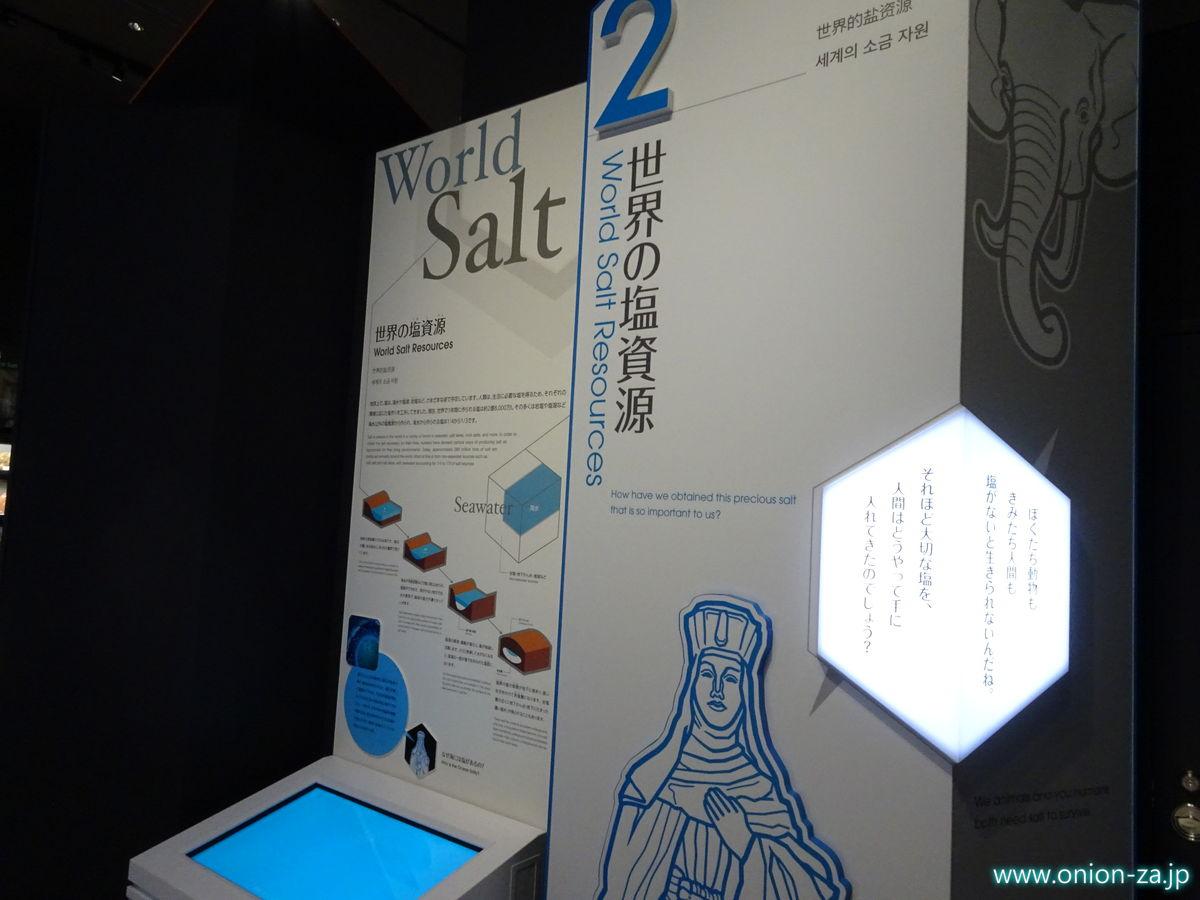 たばこと塩の博物館の世界の塩資源