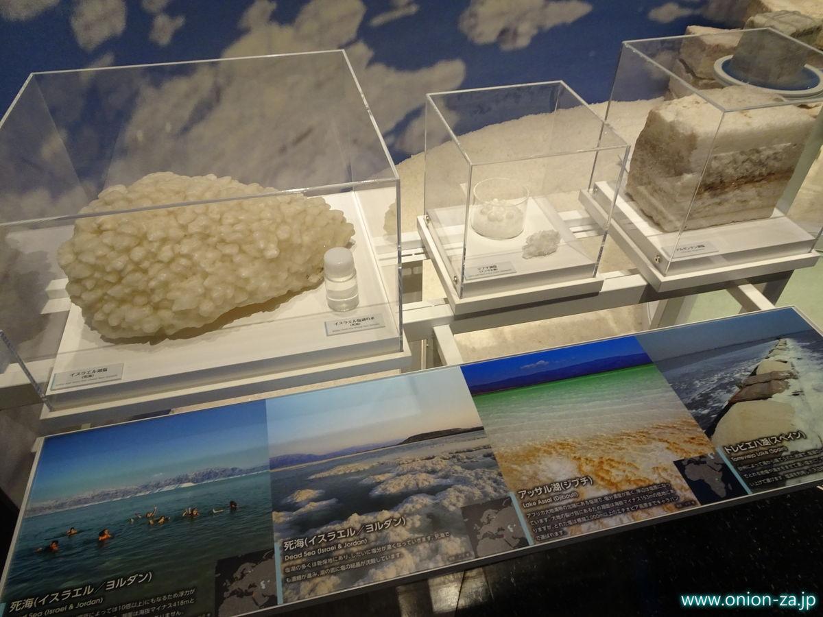 たばこと塩の博物館にある世界の岩塩