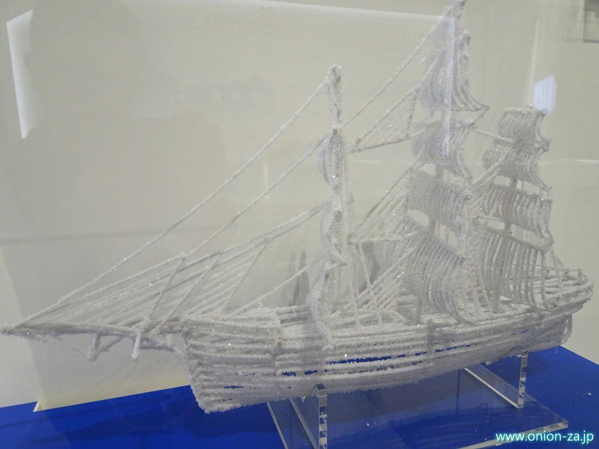 たばこと塩の博物館の塩の結晶の模型