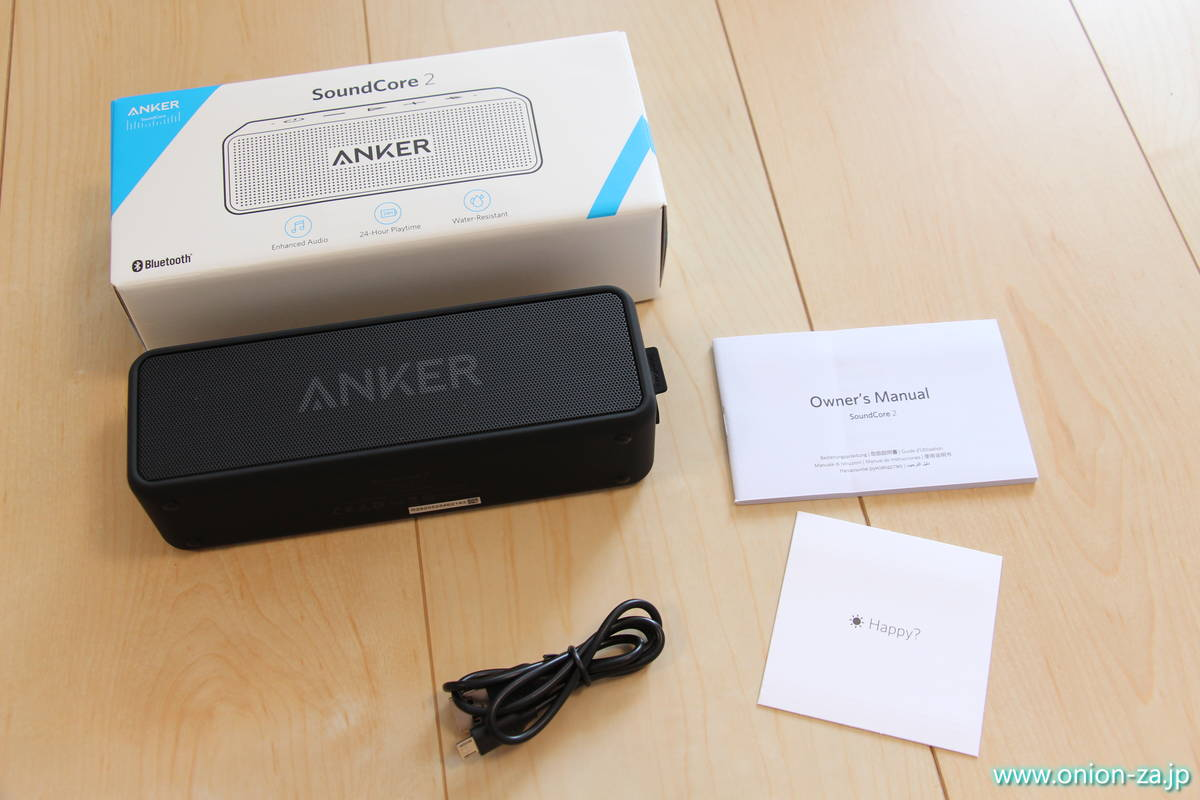 Bluetoothスピーカー Anker SoundCore2の商品内容