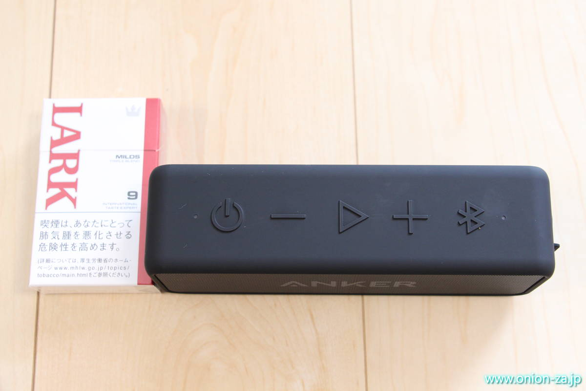 Bluetoothスピーカー Anker SoundCore2のサイズ