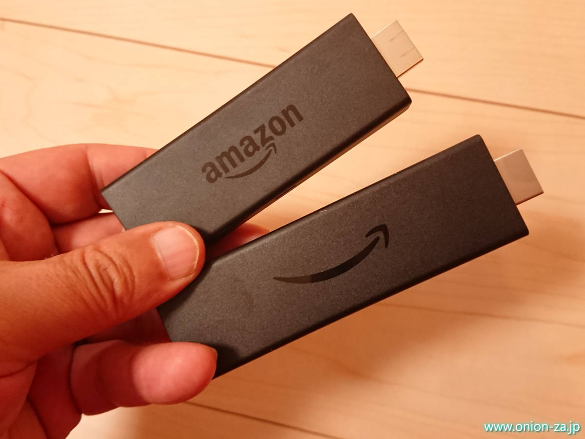Fire TV Stick 4KとFire TV Stickの大きさ比較