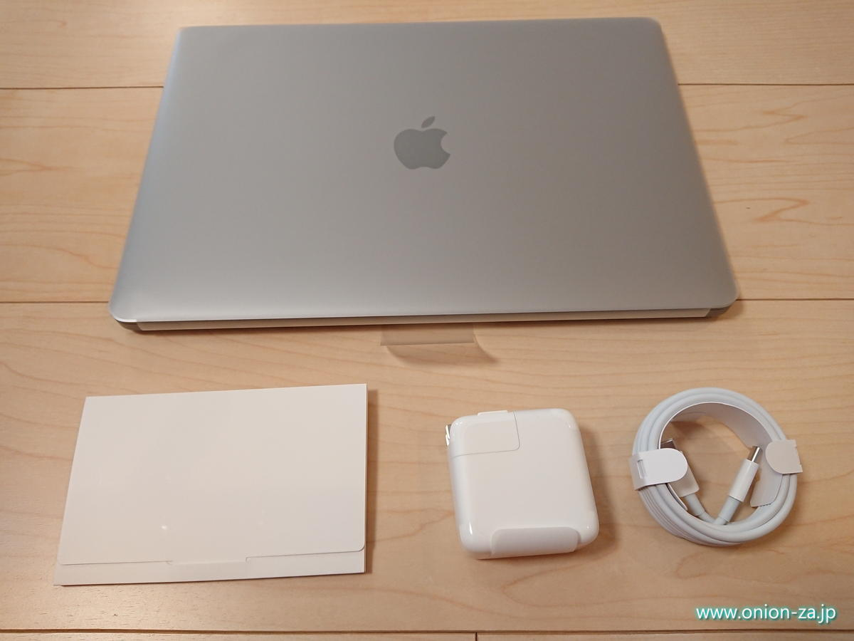 MacBook Airのパッケージ同梱内容はこちら