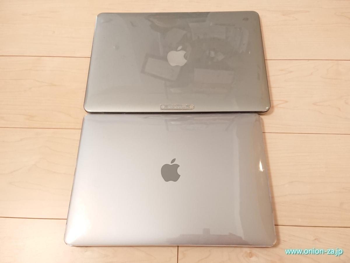同じ13インチでも新しいMacBook Airの方が小さい