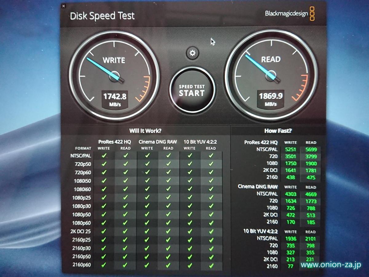 NVMe PCI SSDを搭載したMacBook Airの読み書きは2GB/sに迫る