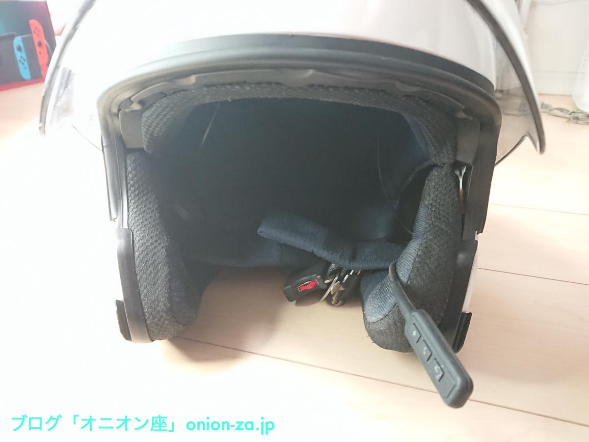 Bluetooth4.0のバイク用無線ヘッドセットを付けたヤマハヘルメットYJ-20