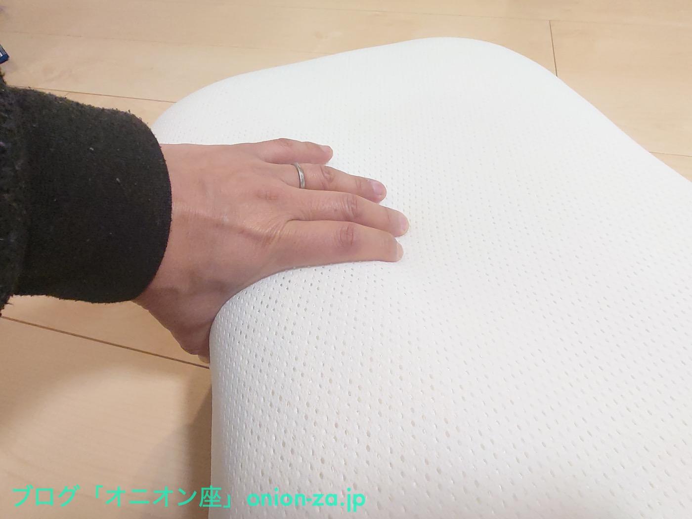やや硬めとは言え、そば殻まくらとか、パイプまくらよりは柔らかい